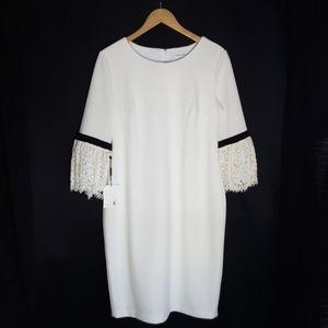 Calvinklein Boat neck 3/4 sleeve sheat dress